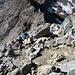 tracce di sentiero in cresta