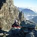Still on the ridge before Bianco snow crest