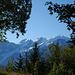 Mont Blanc vu de la montée aux Chalets de Varan
