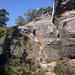 zweite Kletterstelle - recht exponiert (hier nicht ersichtlich) - und stark ausgewaschene Tritte, Vorsicht
