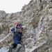 In der Kletterstelle (mit Bohrhaken)