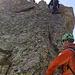Kletterei an einem der Aufschwünge