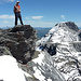 Auf dem Gipfel des Ruchi mit Hausstock im Hintergrund