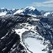 Blick zurück, Chli Ruchi, Ruchi, dahinter Bifertenstock, Tödi und ganz rechts noch der Hüfipass Claridenpass erkennbar