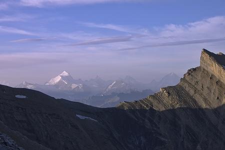 Zackengrat mit Weisshorn 4506m