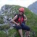 Am Gipfel der Kreuzwandspitze. Es folgte ein fluchtartiger Abstieg wegen eines hernnahenden Gewitters. Drum ist das hier auch das letzte Foto der Tour ... Bis zur Dammkarhütte haben wir es noch im Trockenen geschafft.