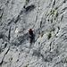 Ein Kletterer am Mauerläufer