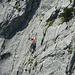 Eine Klettererin am Mauerläufer