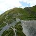 Ausgangspunkt: die Staumauer des Oberaarsees.