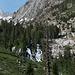 Im Aufstieg auf dem Horse Creek Trail - Blick zu einem Wasserfall des Horse Creek.