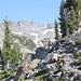 Im Abstieg auf dem Horse Creek Trail - Rückblick.