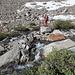 Im Abstieg auf dem Horse Creek Trail - Hier bei einer der zahlreichen Querungen des Bachs.