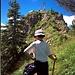 """""""Schlüsselstelle"""" der Tour - der Gipfelaufbau des Straußbergs"""