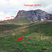 Ab Chüemad ist die Route gut sichtbar
