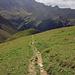 Abstieg auf dem Bergweg