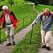 die beiden Ältesten, Hansruedi 85 (links) und Peter 89 verabschiedeten sich und wanderten direkt nach Huttwil