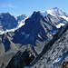 Blick vom Col du Pigne auf  Schalihorn 3975m, Pte. Nord de Moming 3863m, Besso 3668m und Zinalrothorn 4221m