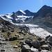 Glacier de Moiry mit Ptes. de Mourti 3564, Pte. de Moiry 330