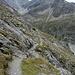 Aufstiegsweg<br />Im Hintergrund Pigne de la Lé 3396 m