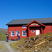 """Ankunft in Ny Sulitjelma. Gemäss norwegischem Führer """"ein gewöhnliches Haus mit Strom und fliessend Wasser"""""""