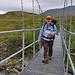 Die Karte in der wasserdichten Kartentasche - und an der roten Schnur der Schlüssel für die norwegischen Hütten - und meine wasserdichten Bergschuhe.....