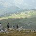 Il Rifugio Capanna 2000 ed in fondo il Saba