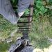 Abstieg über die Leiter zum Gätterli Resti