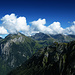 Wolken kleben an den Gipfeln...