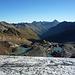 Ein wunderschöner Morgen! Blick auf Gletscher, Seelein und die Weite der Bündner Bergwelt