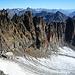 Das Gletscherchen zwischen Piz Vadret und Vadret Pitschen und meine Route durch die Südwand, die mich auf den 12-Stunden Grat bringt