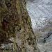 Hier könnte rostig abgeseilt werden – ein alter Haken beim Aufstieg zum 12-Stunden Grat