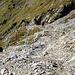 La parte finale del sentiero che sale dalla Val da Fain