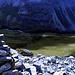 Il sentiero nei prati con i suoi zig-zag, visto dal punto alto a 2770mt