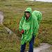 Dreimal Regenschutz: Hannes mit dem Poncho.....