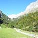 Kurz nach Bodenberg beim Aufstieg zur Kröntenhütte