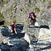 Meine zwei Kletterpartner im Nachstieg