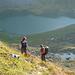 Im Abstieg geniessen wir die Sicht über den Obersee