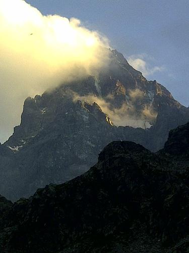 Ultimo sole sul Re di Pietra - Monviso N face