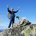 Hannes: Gipfelfreude auf dem höchsten Punkt.