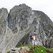 Gipfel der Lauwandspitze, im Hintergund der Grosse Ifinger
