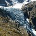 Blick zurück auf den imposanten Triftgletscher, fotografiert vom Trifthüttenweg aus
