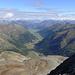 Blick vom Monte Vago ins Valle di Livigno