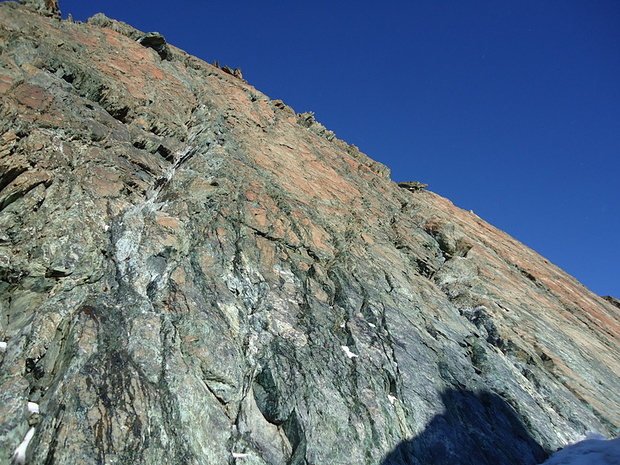 Hier ohne Seil hoch braucht eine gute Klettertechnik plus Selbstvertrauen