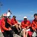 Gipfelfoto - Hubert (im Hintergrund mit seinem Handy beschäftigt), Hans, Klaus, Christian, Stefan