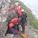 Die Höhle liegt 5 Minuten oberhalb der Hütte, knapp überm Zustiegsweg