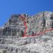 Unsere Route – ziemlich ideal – auf den Gipfel des Corn da Tinizong.