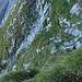Tiefblick in die Aufstiegsroute des Wiss Tritt.