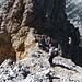 runter in die Scharte vor der Überschallspitze(2601m); sie ist allerdings wenig ausgeprägt
