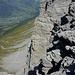 Vom Gipfel des Rotstock - der berühmte Eigertrail aus der Vogelperspektive.