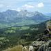 Blick zum Schafberg und Säntis